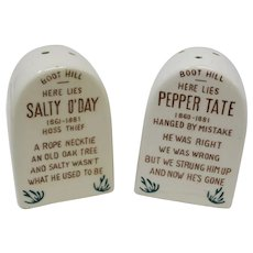 Comical Gravestone Salt & Pepper Shakers