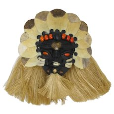 Brazilian Karajá Guardian Mask For Evil Eye Protection & Home Blessing