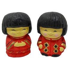 Japanese Kokeshi Doll Salt & Pepper Shakers