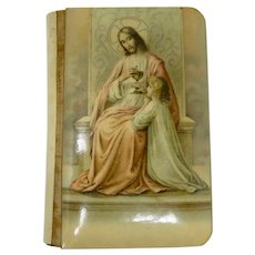 1925 First Communion Catholic Prayer Book With Father Seelos Holy Relic
