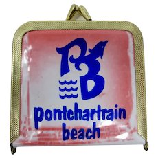 New Orleans Pontchartrain Beach Amusement Park Souvenir Pocket Mirror