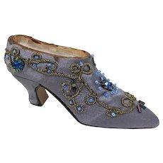 Bejeweled Satin High-Heeled Shoe Figurine