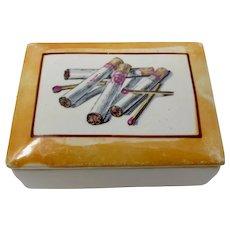 Ceramic Cigarette Box With Lipstick Traces