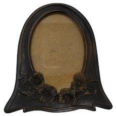 HL British Registered Design Wood Look Oval Picture Frame