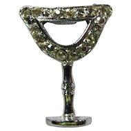 Vintage Rhinestone Chalice Brooch