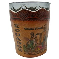 Leather-Sleeved Shot Glass From Ecuador