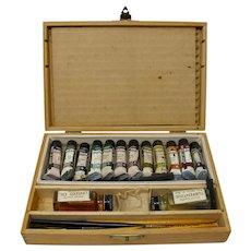 Grumbacher Oil Paint Set in Wooden Box