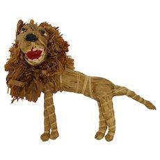 South African Raffia Lion Sculpture