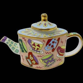 Vivian Chan Miniature Teapot With Teacup Pattern