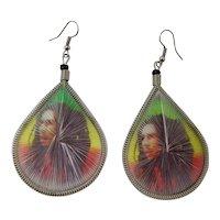 Bob Marley String Art Earrings From Jamaica
