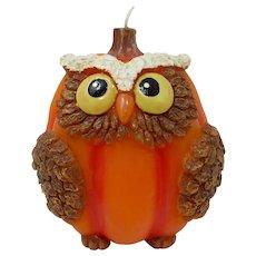 Halloween Owl Pumpkin Candle