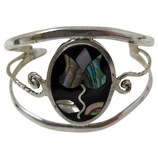 Child's Silver-Plated Abalone Cuff Bracelet