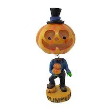 Light-Up Halloween Nodder Pumpkin Head Figurine
