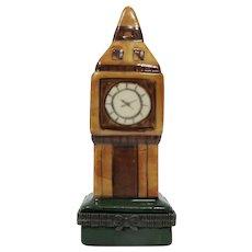 Big Ben London Clock Tower Enamel Pill Box