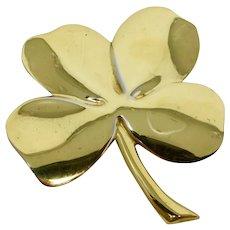 Gerity 24-Karat Gold Plated Lucky Shamrock Paperweight