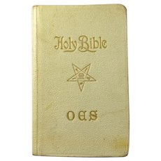 SALE! 1938 Order of the Eastern Star First Communion Bible