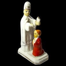 Vintage Altar Boy & Bishop Ceramic Figurine