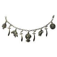 SALE! 1940s Korda Thief of Baghdad Charm Bracelet by Rice-Weiner