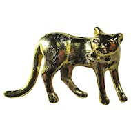 Vintage Three-Dimensional Cat Brooch