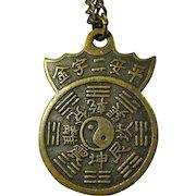 Vintage Feng Shui Compass Necklace