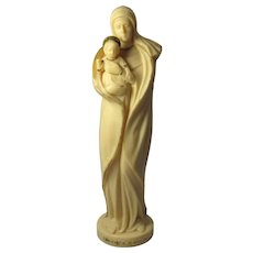 Vintage Lady of The Snows Virgin Mary Statue