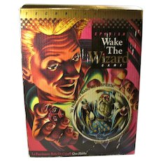 """Vintage """"Wake The Wizard"""" Electronic Crystal Ball Fortune Telling Game"""