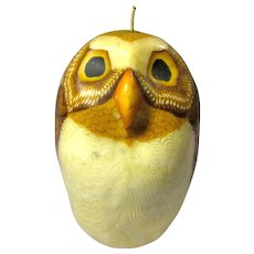 Vintage Millefiori-Style Decorative Owl Candle