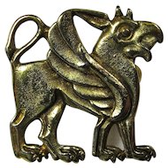 1930s Celtic Griffin Brooch