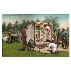 Victorian Postcard of Chinese Funeral Service