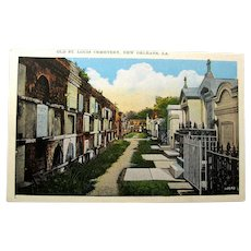 1920s New Orleans Cemetery Postcard Unused