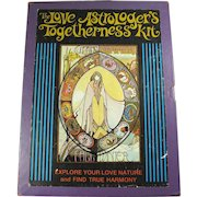 1973 Love Astrologer's Togetherness Kit With Book & Card Deck