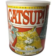 Vintage Catsup! Beanbag Cat Juggling Game In Can