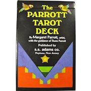 Vintage Parrott Tarot 82-Card Deck With Fantasy Artwork