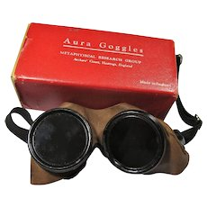 Vintage Aura Goggles With Box, Metaphysical Research Group, Hastings, England