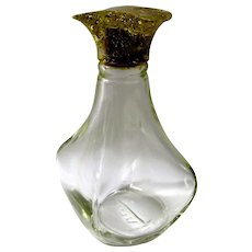 1950s Perfume Bottle With Gold Confetti Lucite Top