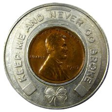 "1947 Lucky Wheat Penny Token From Kennedy's ""Good Clothes For Good Boys"""