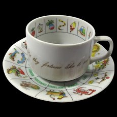 Vintage Zodiac Fortune Telling Tea Cup & Saucer