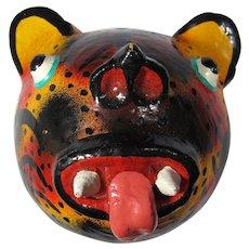 Vintage Haitian Vodou Leopard Mask
