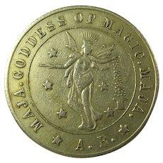 1920s Maja Goddess Of Magic Good Luck Token
