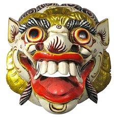 Vintage Balinese Barong Lion Spirit Mask
