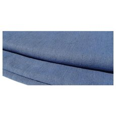 Antique French Linen Woad blue organic chanvre 19th century