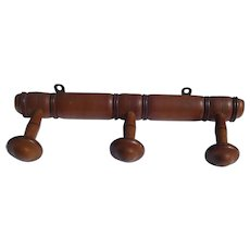 Antique French Faux Bamboo Coat Rack Napoleon III (Victorian) hat Pegs