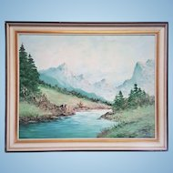 Oil painting early century signed H.Tisel. FREE US SHIPPING