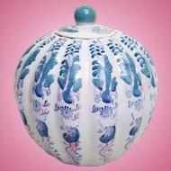 A Qing Dynasty Qianlong (1736-1795) porcelain pumpkin jar. FREE US SHIPPING