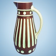 An antique British porcelain pitcher from the year 1867 with the diamond-shaped English Registry mark. FREE US SHIPPING