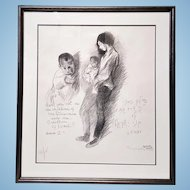A pencil-signed lithograph by Raphael Soyer (1899-1987)