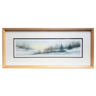 A lithograph by Arnold Alaniz pencil signed and artist's proof titled Winter Morning
