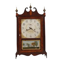 Seth Thomas Off Center Pillar & Scroll Shelf Clock C. 1818