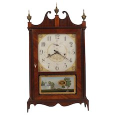 Seth Thomas Off Center Pillar & Scroll Shelf Clock C. 1818