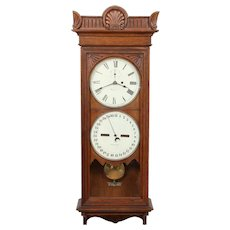 Seth Thomas No. 12 Weight Driven Double Dial Calendar Clock
